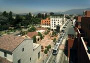 Del Mar Station Transit Village, featuring light rail near historic downtown Pasadena, CA. Photo courtesy of Moule & Polyzoides Architects and Urbanists, Tom Bonner Photograph